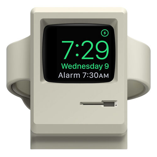 Retro Classic Mac Desktop Charging Stand Holder for Apple Watch Series